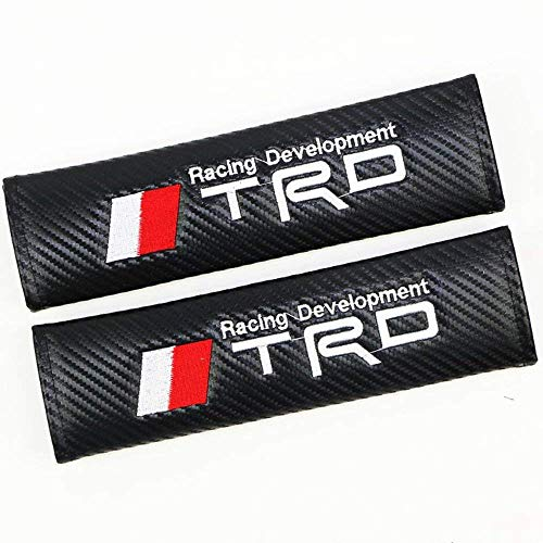 Altergo Seat Belt Covers for TRD Cars Embroidered Badge Adults and Children Shoulder Pad Opening Fiber 2 Pack