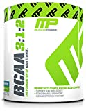 MusclePharm BCAA Powder, Muscle Recovery, Muscle Building, 6g Amino Acids, Blue Raspberry, 30 Servings