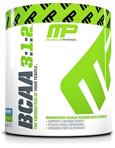 MusclePharm BCAA Powder, 6 Grams of BCAAs Amino Acids, Post Workout Recovery Drink for Muscle Recovery and Muscle Building, Blue Raspberry, 30 Servings