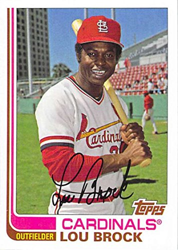 Lou Card Brock Baseball (2017 Topps Archives #140 Lou Brock St. Louis Cardinals Baseball Card)