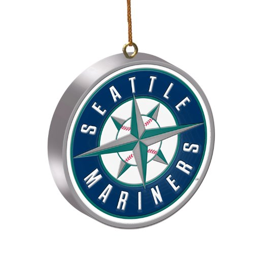 MLB Seattle Mariners 3D Logo Ornament - Seattle Mariners Hanging
