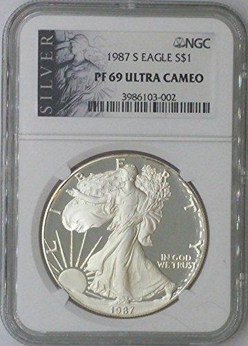 1987 S American Eagle $1 PF69 NGC PF