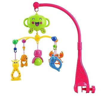 BOBORA Espiral Musical Juguetes Colgar para Carro de Bebé, Sonajeros Bebé de Forma de Animal