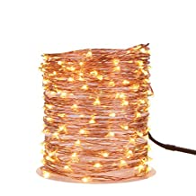 200 Leds 66FT Led String Starry Light Copper Wire Dimmable Decorative Fairy Lights Warm White 20M Set of 2