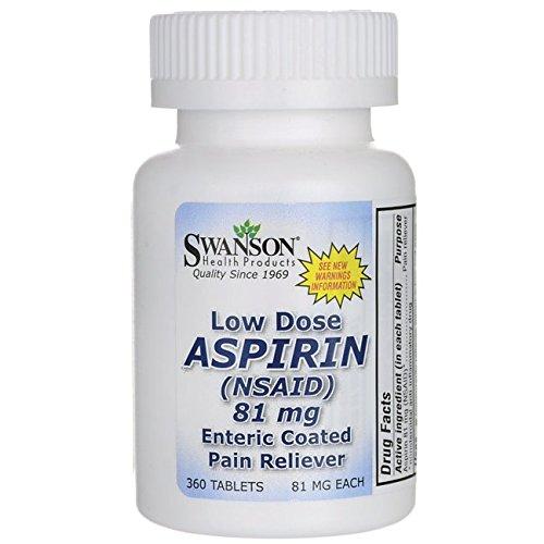 Swanson Low Dose Aspirin Enteric Coated 81 Milligrams 360 Tabs