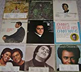JOHNNY MATHIS: Record Album Collection Of 20 LP's [Heavenly, When Will I See You Again, Me & Mrs. Jones, First Time Ever, Warm, Swing Softly, Mathis Is, Love Is Blue, Up & Away, Love Story, Impossible Dream, I'm Coming Home, Raindrops . . .]