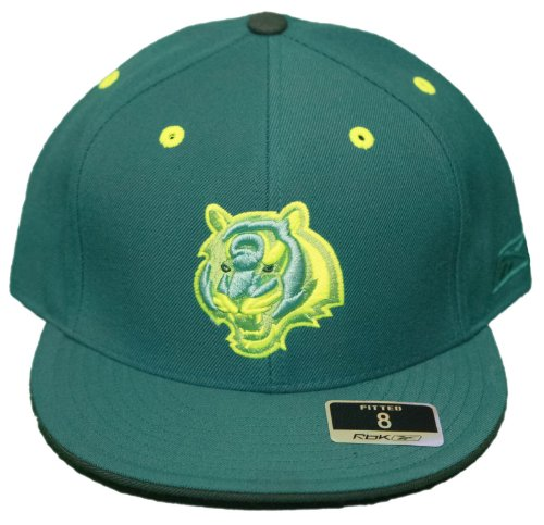 New! Cincinnati Bengals- Fitted 3D Embroidered Cap - Reebok Kolors - Turquoise/Dark Green- Size 8 (Kolor Green)