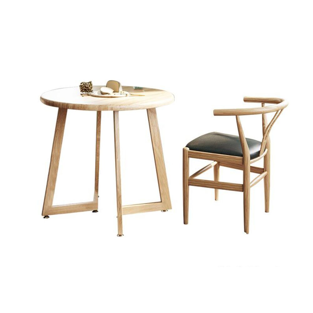 AA Household Table, Simple Table and Chair Combination Round Table, Negotiation Table and Chairs Reception Table Home (Color : T11) by CozyHome