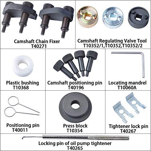 MIKKUPPA Engine Camshaft Locking Alignment Timing Tool Kit for Audi VW Skoda VAG 1.8 2.0 TFSI EA888 SF0233 by MIKKUPPA (Image #1)