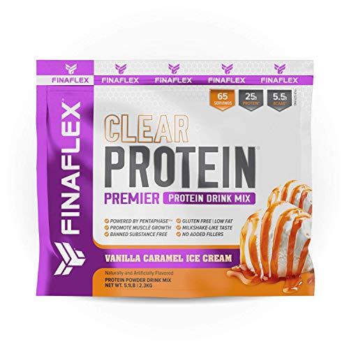 FINAFLEX Clear Protein Vanilla Caramel Premier Drink Mix 5.1 Lb, 5.0 Lb