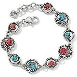 Brighton Halo Monarch Swarovski Crystal Silver Plated Bracelet