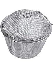 Rfvtgb Extra Large Steel Twist Lock Mesh Tea Ball Tea Infuser with Hook Chain