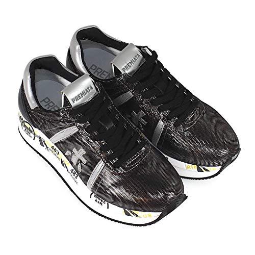 Donna Conny3342 Sneakers Premiata Argento Pelle gHYFq