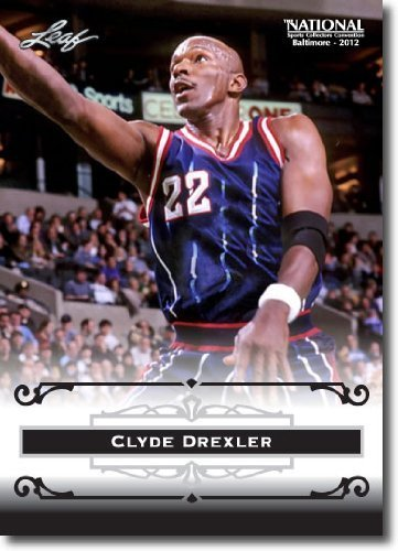 2012 Leaf HOF Baltimore National Sports Collector Promo #CD1 Clyde Drexler - Houston Rockets (Basketball Hall of Fame)(Collectible Trading (Clyde Drexler Hall Of Fame)