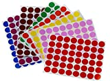 Round sticker colored dots 17mm - color coding labels in assorted colors ~ 3/4'' inch - 3072 Pack