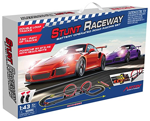 - Artin Stunt Raceway Slot Car Racing Set Slot Car Set