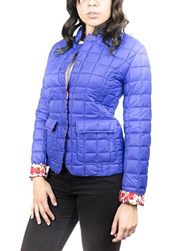 Women's Small Down Blue Jacket Pulsante dwFYtd