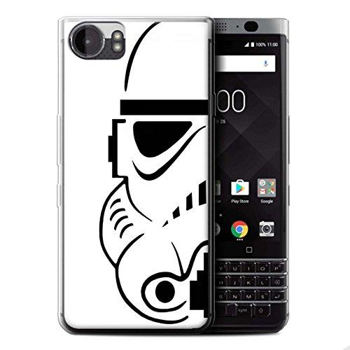 STUFF4 Gel TPU Phone Case/Cover for BlackBerry KeyOne/BBB100 / Stormtrooper Design/Assault Trooper Helmet Collection (Storm Blackberry Case)