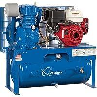 - Quincy QP-7.5 Pressure Lubricated Reciprocating Air Compressor - 13 HP, Honda Gas Engine, 30-Gallon Horizontal, Model# G313H30HCE