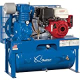 - Quincy QP-7.5 Pressure Lubricated Reciprocating Air Compressor - 13 HP, Honda Gas Engine, 30-Gallon Horizontal, Model# G313H30HCE