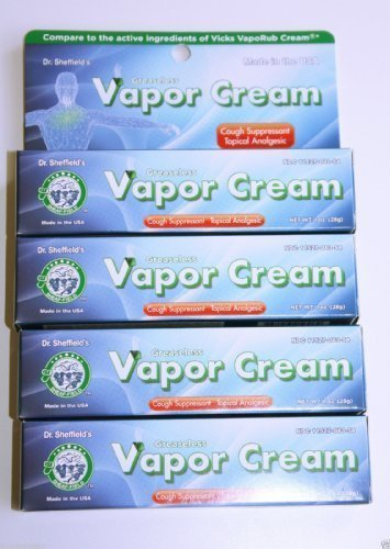 Price comparison product image (Lot of 4) Dr. Sheffield's Greaseless Vapor Cream Cough Suppressant 1 Oz Each Fast Shipping