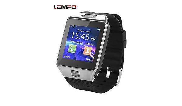LEMFO DZ09 MTK MTK6260 A 1.54 pulgadas bluetooth Smart reloj soporte tarjeta SIM Wearable dispositivos SmartWatch: Amazon.es: Electrónica