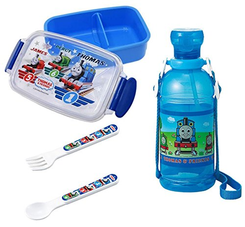 Osk Engine (Children's Water Bottle and Lunch Box with Spoon and Fork - Everything Has Thomas and Friends Markings)