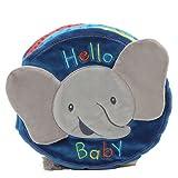 Gund Baby Flappy The Elephant Soft Activity Sensory Stimulating Book, 8''
