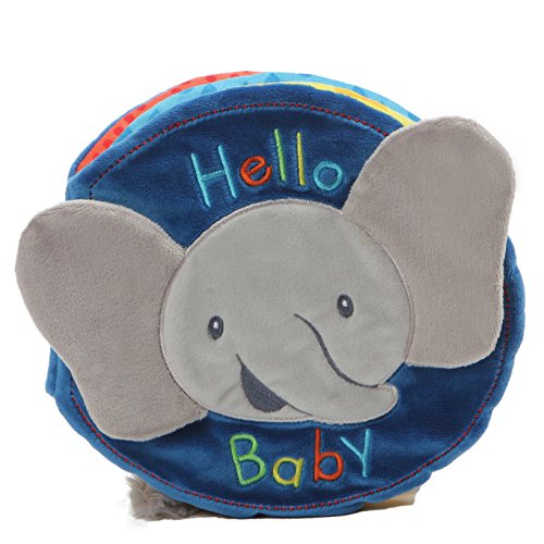 (Baby GUND Flappy the Elephant Soft Activity Sensory Stimulating Book, 8