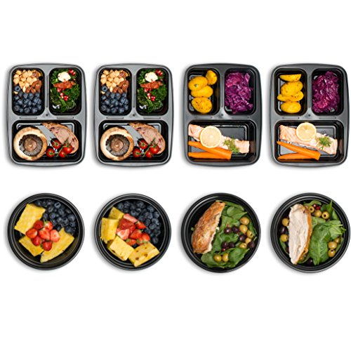 mixed meal prep containers set bento lunch boxes restaurant food storage. Black Bedroom Furniture Sets. Home Design Ideas