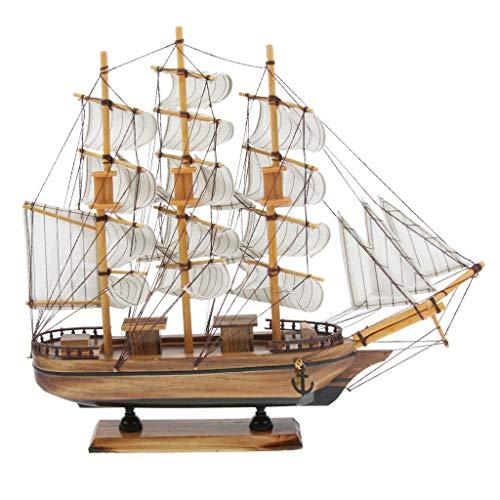 F Fityle 船模型 帆船 模型 手作り インテリア 装飾 木製模型 模型 船モデル モデル 約35cm