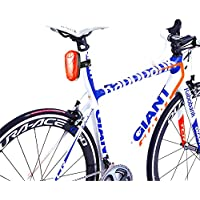 TKSTAR Bike GPS Tracker Alarm with LED Tail Light Waterproof Worldwide Realtime GPS Locator Mini Smart LED light Hidden Motor Bicycle GPS Tracking Device 25 Days Long Battery Life FREE APP