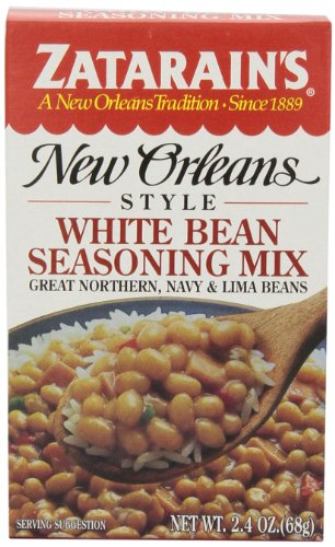 Zatarain's White Bean Seasoning Mix, 2.4 oz (Case of 12) by Zatarain's