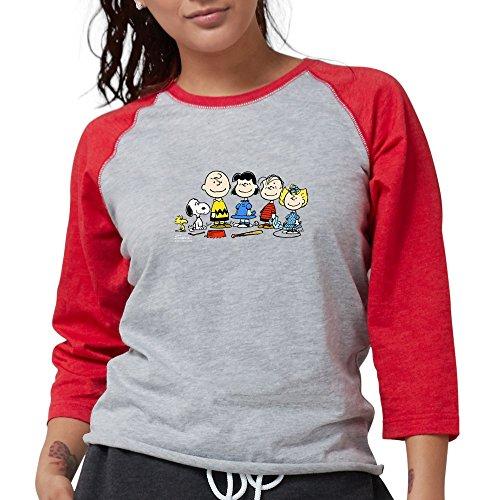 CafePress The Peanuts Gang - Womens Baseball Tee