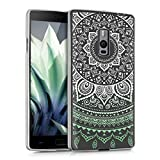 kwmobile Crystal TPU Silicone Case for OnePlus 2 in Design Indian sun mint white transparent