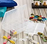 Embroidery Floss Organizer Box - 17 Compartments