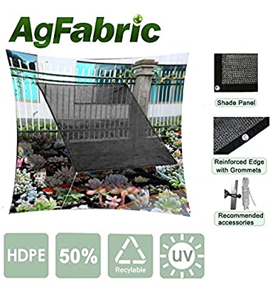 Agfabric 50% Rating- 10ftx 12ft Prefabricated Sunblock Shade Panel, Shade Tarp Panel with Gromments, for Greenhouse, Barn or Kennel, Pool, Pergola or Carport
