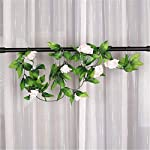 Tcplyn-2Pcs-Simulation-Rose-Flower-Artificial-Rose-Garland-Fake-Silk-Flowers-Garland-Plant-Vine-for-Wedding-Wall-Decoration-Pale-Pink