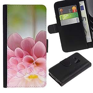 KingStore / Leather Etui en cuir / Samsung Galaxy S3 MINI 8190 / Flower Sun Summer Bloom Nature