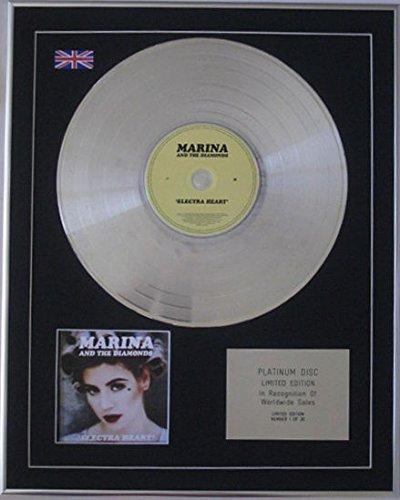 MARINA AND THE DIAMONDS - Ltd Edtn CD Platinum Disc - ELECTRA HEART by Century Music Awards