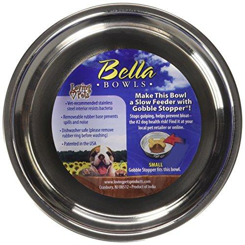 Loving Pets Metallic Bella Bowl, Small, Blueberry