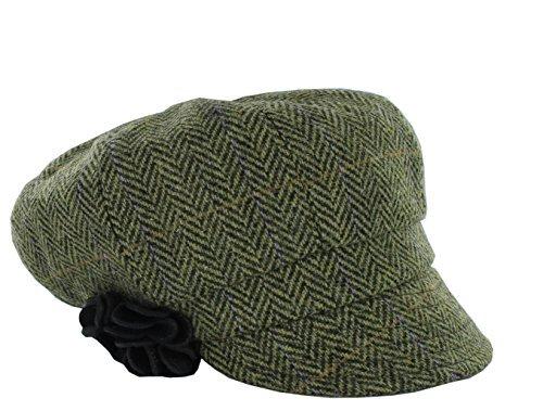 Mucros Weavers Women's Irish Made Newsboy Cap (Color 51)