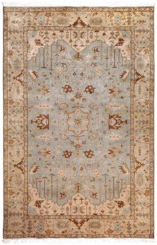 Surya Adana Wool - Surya Traditional Rectangle Area Rug 9'x13' Light Blue-Brown Adana Collection