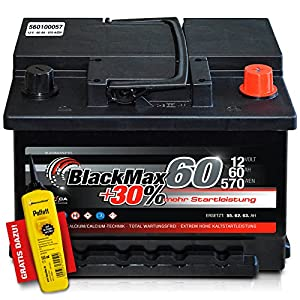 blackmax 30 12 v 60 ah 570 a en autobatterie kfz. Black Bedroom Furniture Sets. Home Design Ideas