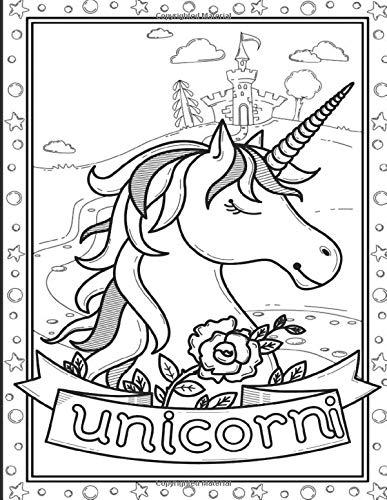 Unicorno Da Colorare.Unicorni Unicorni Libro Da Colorare Per Bambini Dai 2 5 Anni Un Meraviglioso Libro Unicorno Con Attivita E Un Libro Da Colorare Per Ragazze Con Immagini Per Colorare Italian Edition Unicorn Coloring