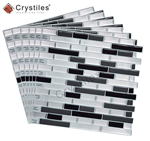 My Diy Peel And Stick Tile Backsplash Installation: Crystiles Peel And Stick Self-Adhesive DIY Backsplash