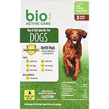 Bio Spot Active Care Flea & Tick Spot On for Large Dogs (31-60 lbs.) 3 Month Refill