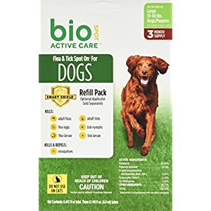 Bio Spot Active Care Flea & Tick Spot On for Large Dogs (31-60 lbs.) 3 Month Refill 45