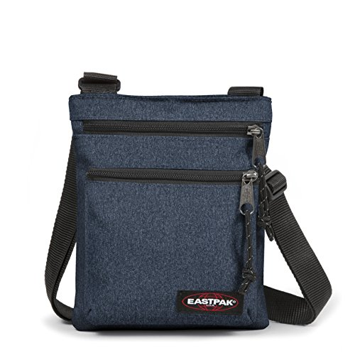 Rusher Sac Denim Eastpak Bleu Bandoulière double 23 Cm Noir d5gagrqnx