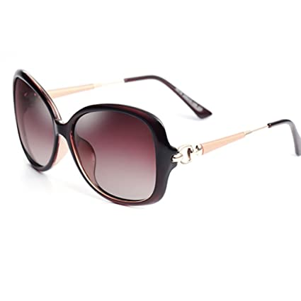 Gafas de Sol Gafas de Sol polarizadas Femeninas Elegantes Gafas Anti-UV (Color :